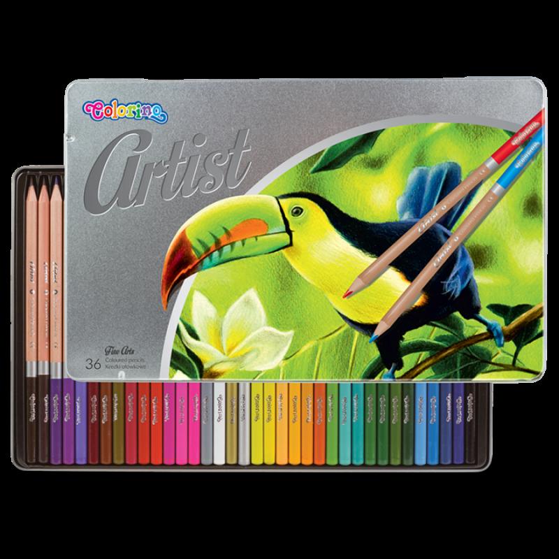 Kredki ołówkowe 36  kolorów w met.pudełku Artist