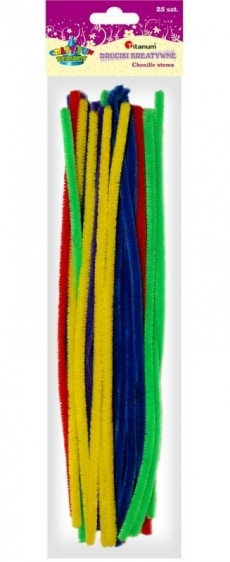 Druciki kreatywne 0,8x30cm A`25 mix jasne kolory