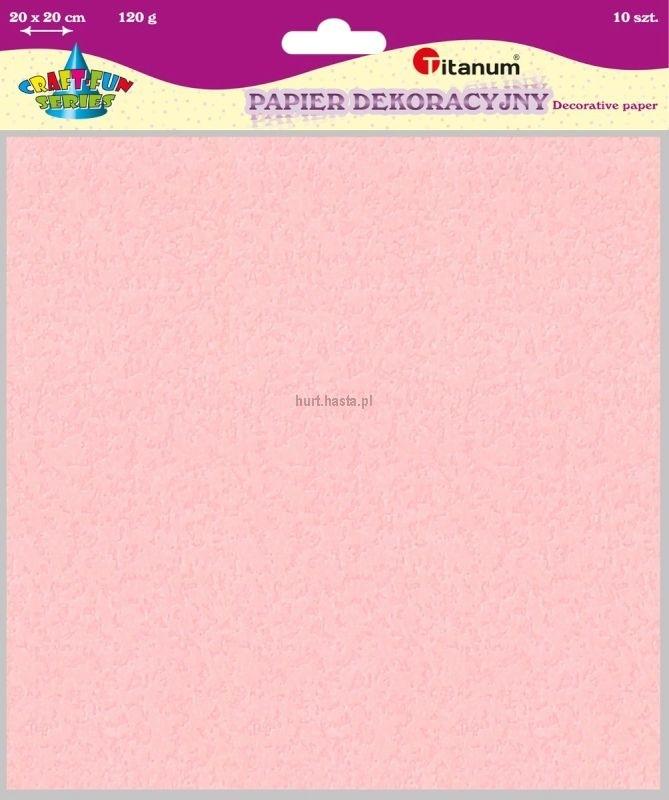 Papier dekoracyjny 20x20 cm 120g A`10 Zestaw 4