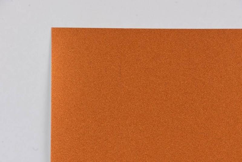 Brystol A2 220g brokat pomarańczowy  Aurum