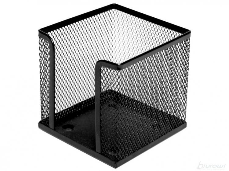 Pojemnik na kostkę papierową 10x10x10cm czarny