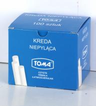 Kreda szkolna biała okrągła niepyląca TOMA op. 100 sztuk