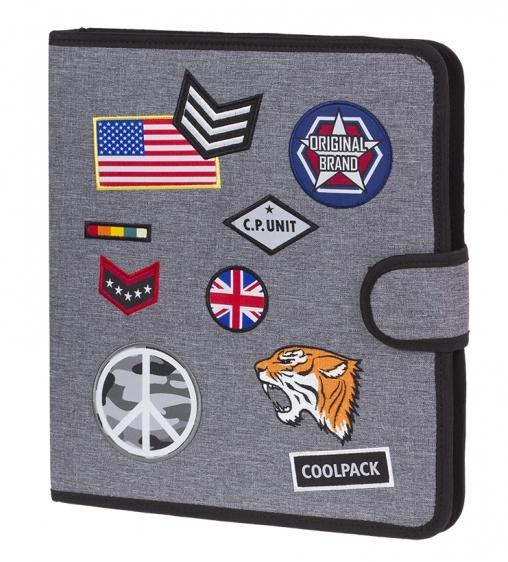 Teczka wielofunkcyjna Coolpack Badges Grey A406