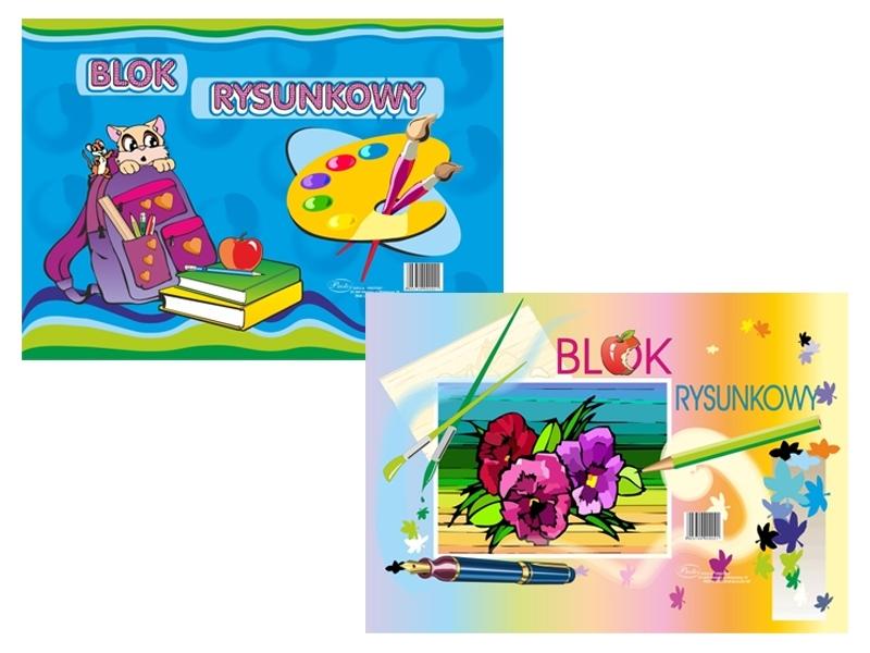 Blok rysunkowy biały A3 20 kartek