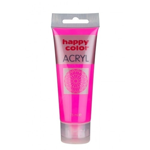 Farba akrylowa różowy fluo75 ml Happy  Color