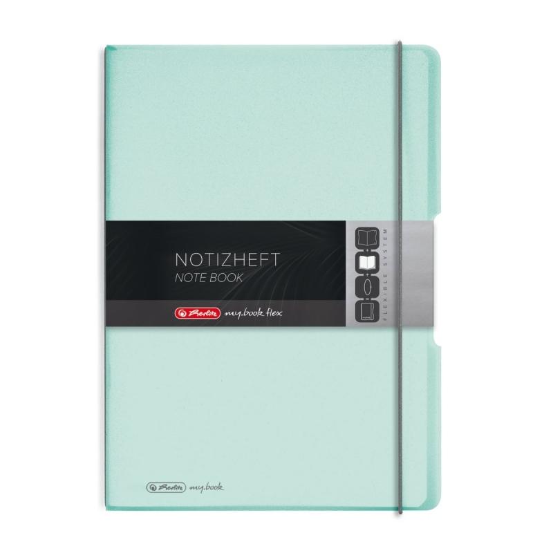 Notatnik FLEX A4 2x40 K/L  PP  miętowy Herlitz