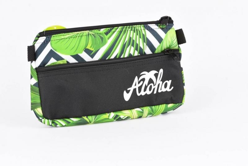 Saszetka z kieszonką  Aloha czarna  War551