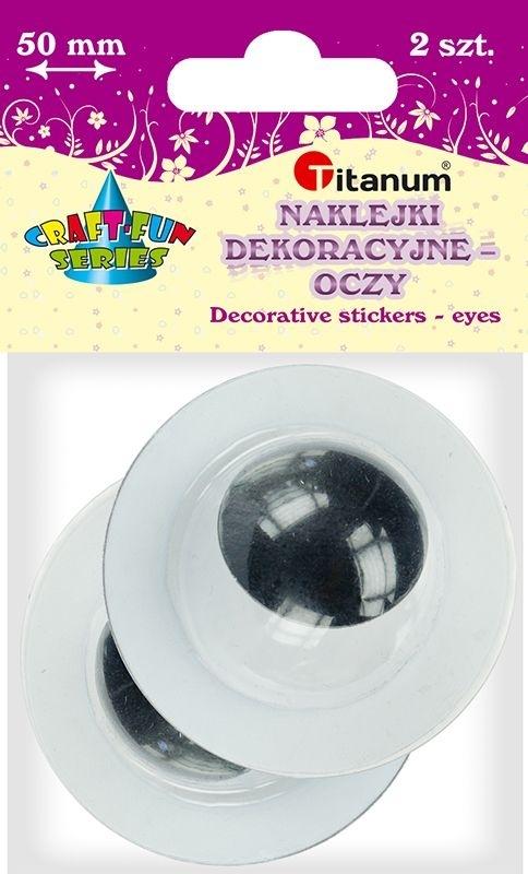 Oczy dekoracyjne czarne 5cm A`2