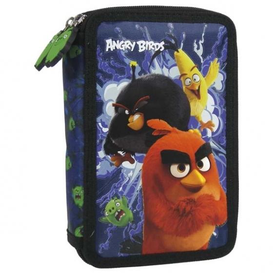 Piórnik dwukomorowy z wyposażeniem Angry Birds 13 Derform