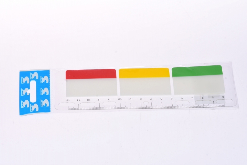 Zakładki indeksujące PP 50x38mm z linijką Tierra