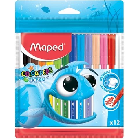 Flamastry 12 kol. Colorpeps Ocean Maped