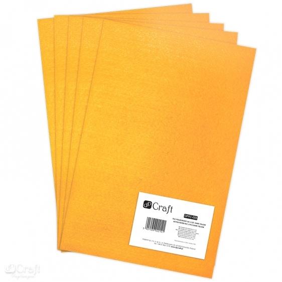 Filc poliestrowy A4 5szt ciemno żółty Dalprint