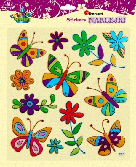 Naklejki do dekoracji motyle/kwiaty 12 szt