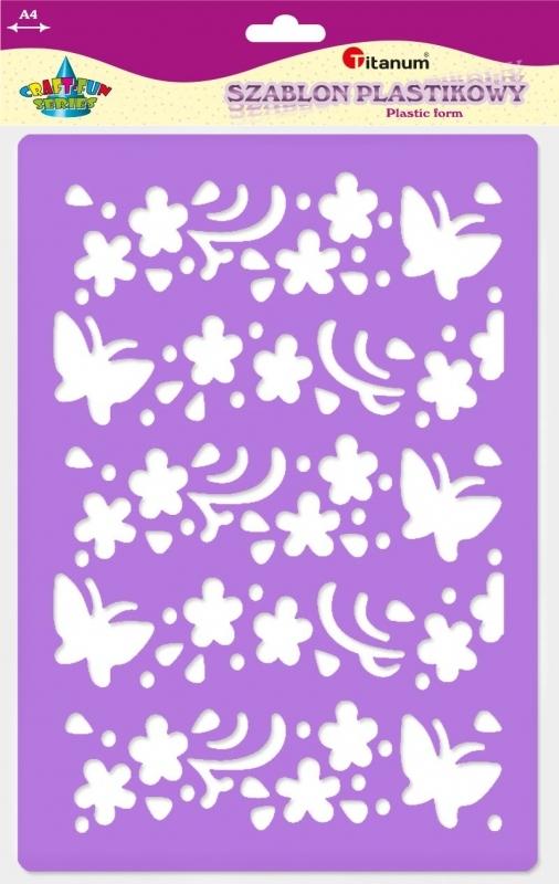 Szablon plastikowy A4 kwiaty, motyle