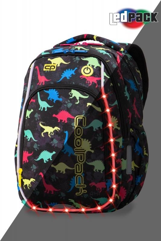 Plecak młodzieżowy Coolpack Strike S Dinosaurs Led