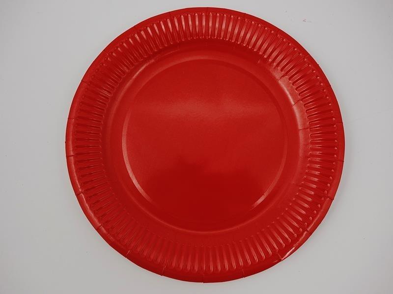 Talerz papierowy kolor czerwony 23cm  A`10