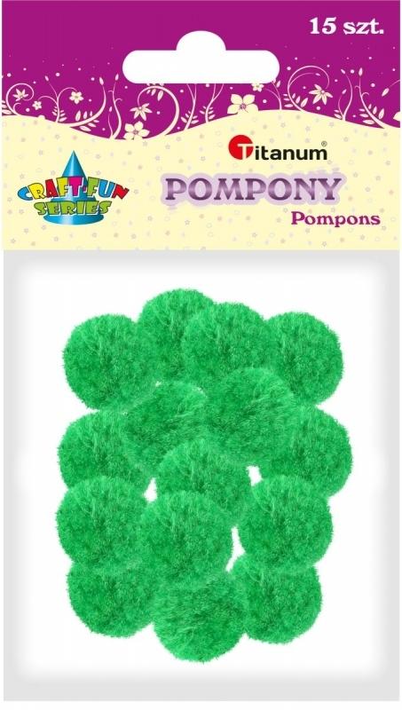 Pompony akrylowe zielone 1,8cm A`15