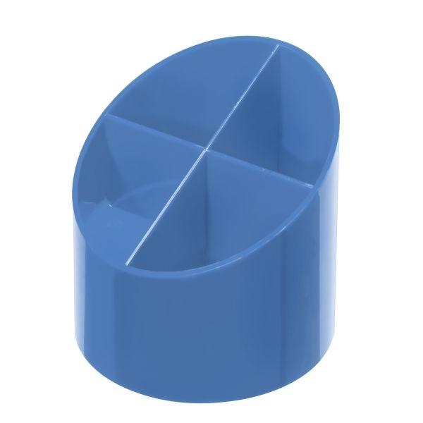 Przybornik na biurko 4 komorowy niebieski  Herlitz