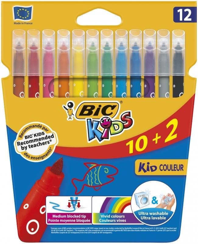 Flamastry 12 kolorów Kid Couleur BIC