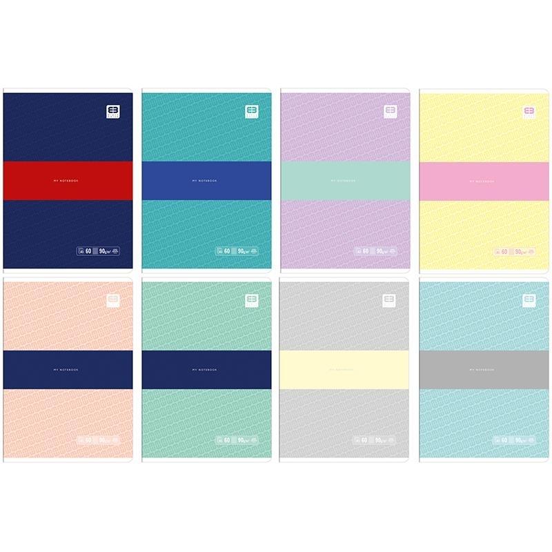 Zeszyt A5 60k kratka Bleck&Blue Pastel