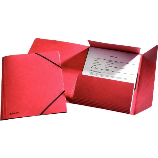 Teczka kartonowa z gumkami Esselte czerwona