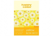 Blok techniczny DECO A5/20 170g 5 odcieni żółtego