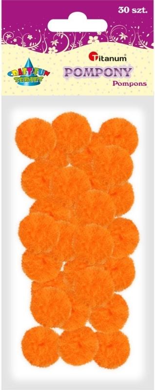Pompony akrylowe pomarańcz 2,5cm A`30