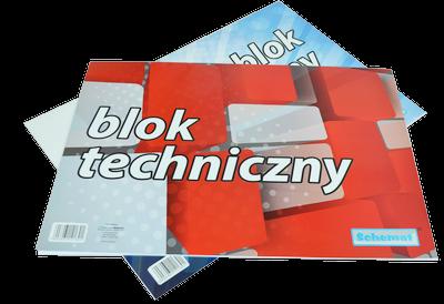 Blok techniczny biały A3 10 kartek