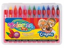 Kredki do malowania twarzy 12 kolorów Colorino
