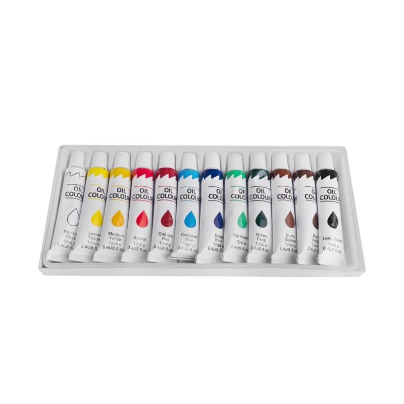 Farby olejne 12 kolorów w tubie 12ml