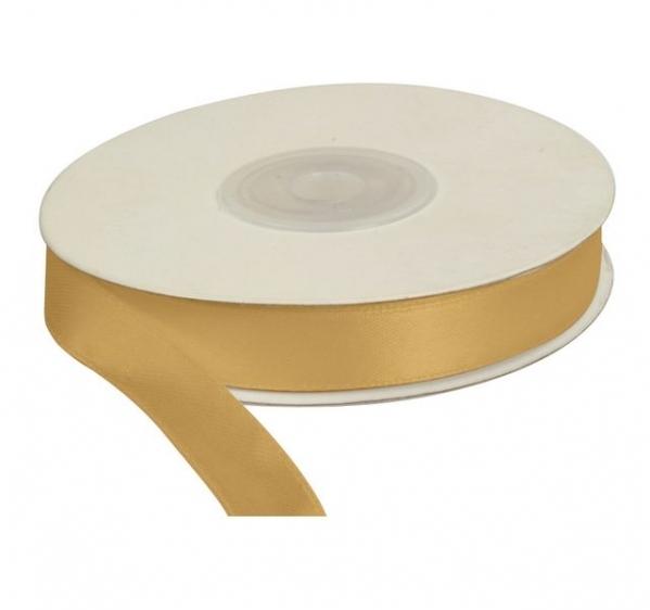 Wstążka satynowa dekoracyjna złota 12mm/25m