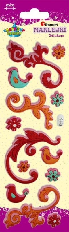 Naklejki dekoracyjne przestrzenne  kwiaty/ptaki 1,5-7cm A`13