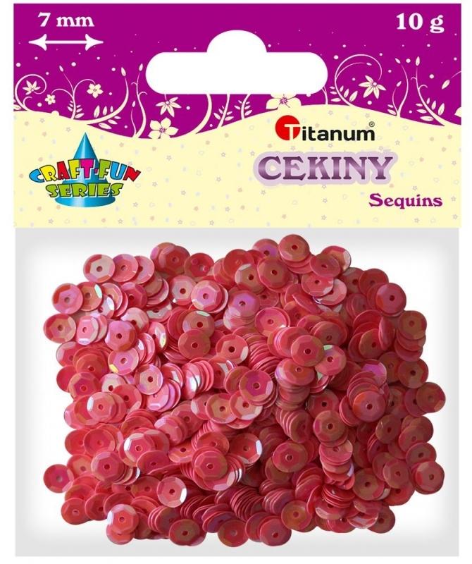 Cekiny kreatywne okrągłe jasny róż 7mm 10g