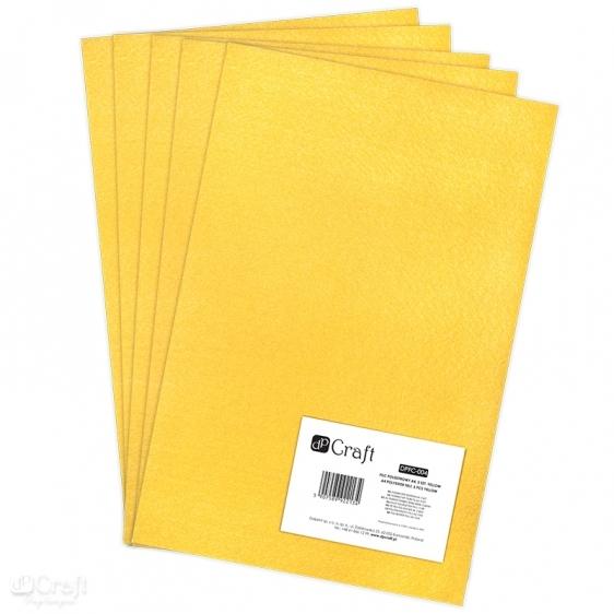 Filc poliestrowy A4 5szt żółty Dalprint