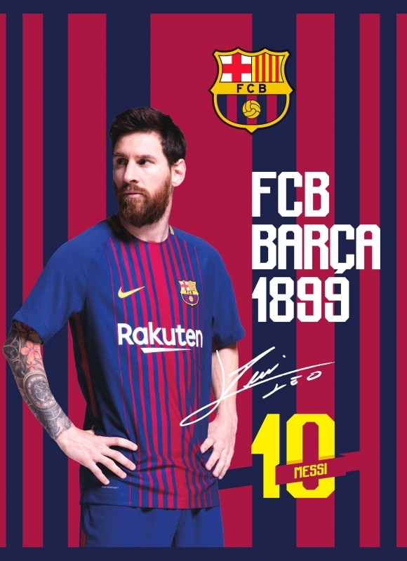 Zeszyt A5/16k trzylinia kolor FC Barcelona FCB6