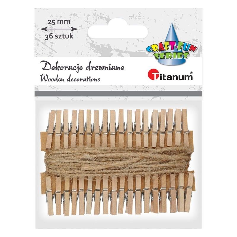 Klamerki drewniane A`36 2,5cm
