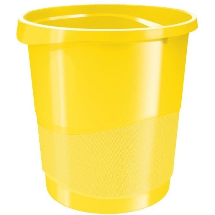 Kosz na śmieci ESSELTE EUROPOST VIVIDA 14l żółty