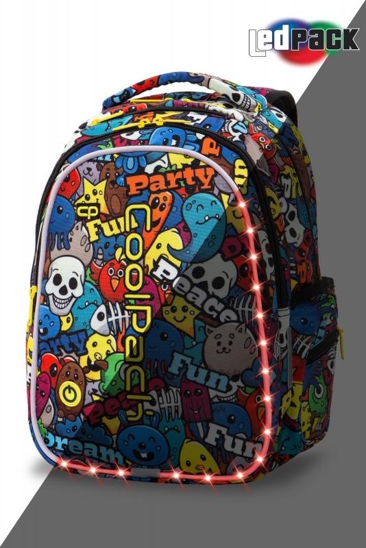 Plecak młodzieżowy Coolpack Joy M Cartoon Led