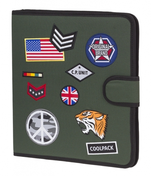 Teczka wielofunkcyjna Coolpack Badges Green A420