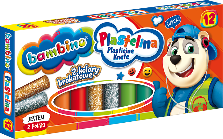 Plastelina 12 kolorów Bambino