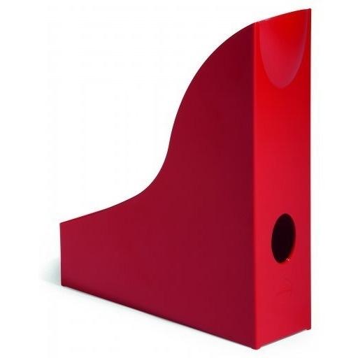 Pojemnik na czasopisma Basic A4 czerwony Durable