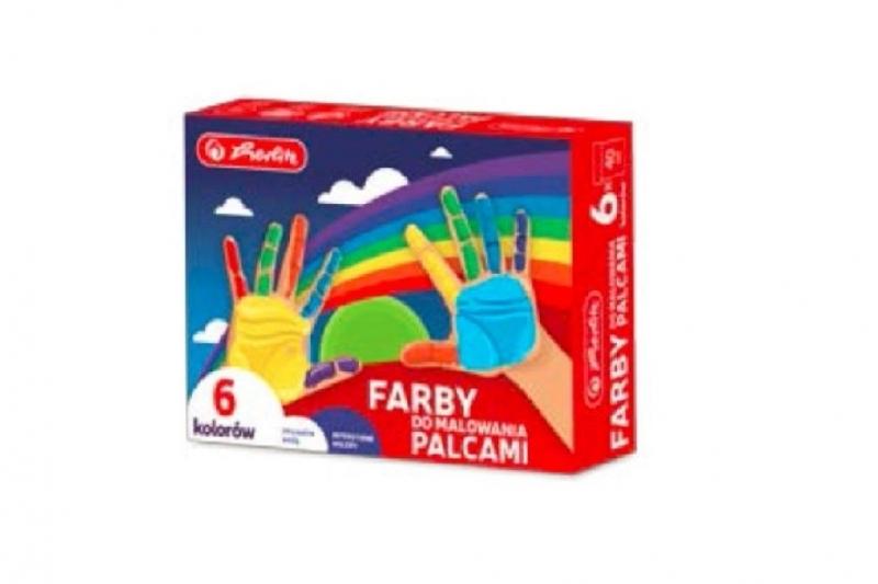 Farby do malowania palcami 6 kolorów Herlitz