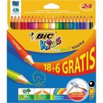 Kredki ołówkowe BIC 24 kolorów EVOLUTION