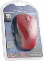 Myszka bezprzewodowa optyczna Titanum NEON 3D USB TM115R Czerwona