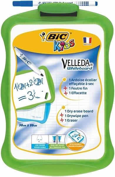Tablica suchościeralna 30x20 cm + marker BIC KIDS
