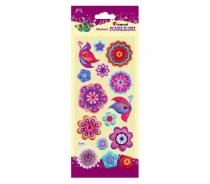 Naklejki dekoracyjne przestrzenne kwiaty/motyle 2-5cm 15szt