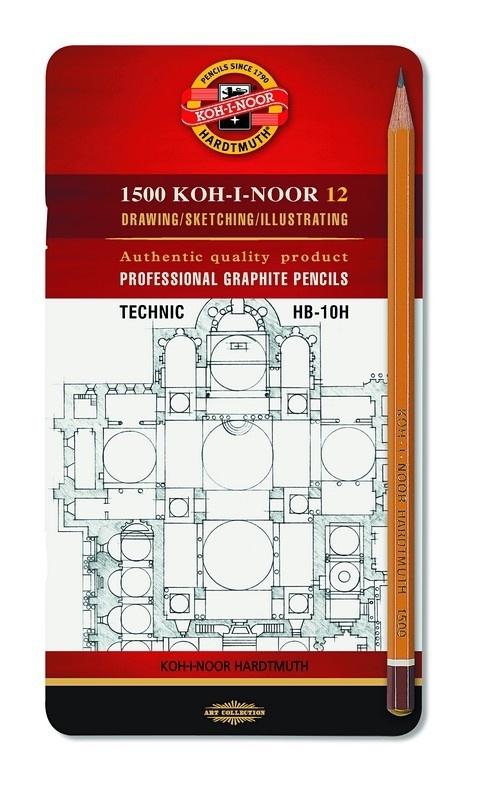 Zestaw ołówków 1500 12szt HB-10H met. pudełku