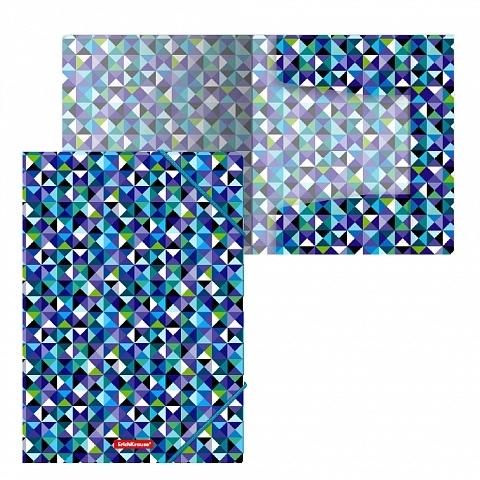 Teczka A4 PP na gumkę Cubes ErichKrause