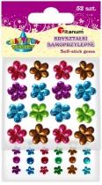 Kryształki samoprzylepne kreatywne kwiaty/kropki 52szt