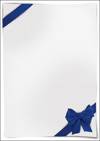 Dyplom Verso170g op. 25 szt. niebieski